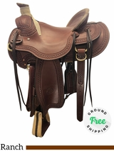 """15.5"""" Used Billy Cook Wide Ranch Saddle Arbuckle Wade 2182 usbi4157 *Free Shipping*"""