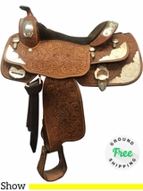 """PRICE REDUCED! 15.5"""" Used Billy Cook Wide Show Saddle 9003 usbi3684 *Free Shipping*"""
