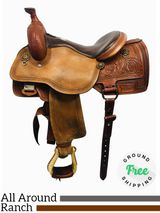 "PRICE REDUCED! 15.5"" Used Circle Y Saddle Rocky Mountain High Performance Versatility 1470 uscy4323 *Free Shipping*"