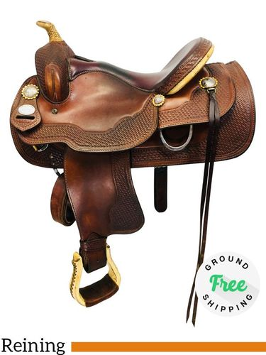 """SOLD 2019/05/23  PRICE REDUCED! 15.5"""" Used Crates Saddle Reiner 4520-3 uscr4328 *Free Shipping*"""