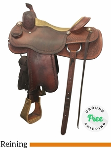 "PRICE REDUCED! 15.5"" Used Jack Brainard Reiner - Trail Saddle usjb4193 *Free Shipping*"