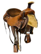 "SOLD 2021/04/20  15.5"" Used TexTan Roping Saddle  *Free Shipping*"