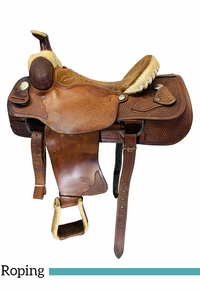 15.5Inch Used Billy Cook Dally Team Roper Saddle 9111 *Free Shipping*