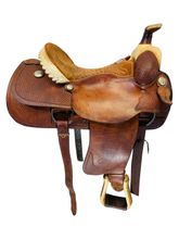 PRICE REDUCED! 15.5Inch Used Billy Cook Dally Team Roper Saddle 9111 *Free Shipping*