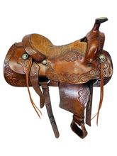 15.5Inch Used Billy Cook MAKER Roping Saddle Custom *Free Shipping*