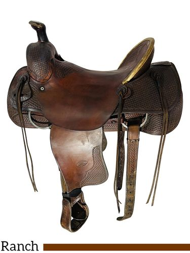 15.5Inch Used Billy Cook Ranch Saddle 2085 *Free Shipping*