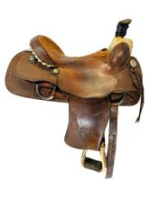 SOLD 2021/04/07 15.5Inch Used Billy Cook Roping Saddle 7533 *Free Shipping*