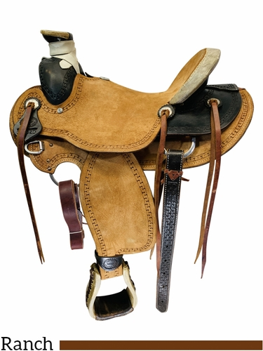 15.5Inch Used Billy Cook Saddlery Ranch Saddle 291820 *Free Shipping*