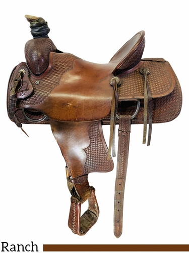 SOLD 2021/03/11 15.5Inch Used Billy Cook Saddlery Ranch Saddle 8515 *Free Shipping*