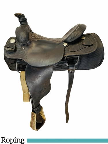 SOLD 2021/04/18  15.5Inch Used Billy Cook Team Roper Saddle 2082 *Free Shipping*