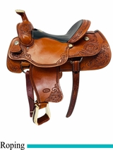 15.5Inch Used Billy Cook Team Roping Saddle 2069 usbi4497 *Free Shipping*