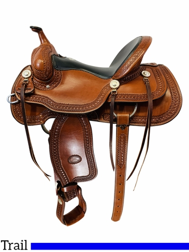 15.5Inch Used Billy Cook Trail Saddle 1777 *Free Shipping*