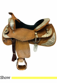 15.5Inch Used Billy Royal Rudy Show Saddle SS00-07RH  *Free Shipping*