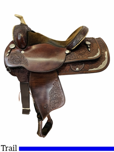 SOLD 2020/11/26  15.5Inch Used Circle Y Trail Saddle 2385 *Free Shipping*