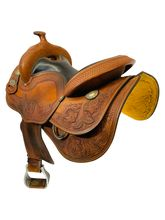 SOLD 2021/01/14  15.5Inch Used Crates Reining Saddle 4557 - 3 *Free Shipping*