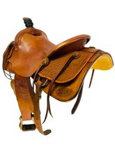 15.5Inch Used Crosstie Saddlery Roping Saddle Custom *Free Shipping*
