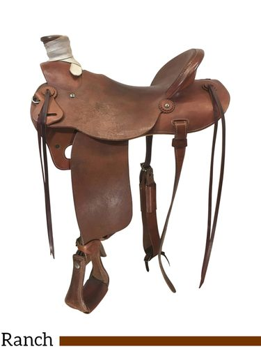 SOLD 2021/04/27 15.5Inch Used Diamond M Saddlery Lite Ranch Saddle Custom *Free Shipping*
