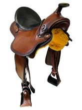 PRICE REDUCED! 15.5Inch Used Eli Miller Gaited Trail Saddle 3-03-89 *Free Shipping*
