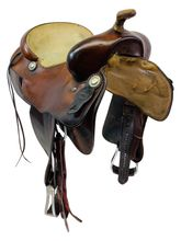 PRICE REDUCED! 15.5Inch Used Fort Worth by J David Huey Reining Saddle 9068091DH *Free Shipping*
