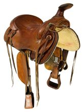 SOLD 2021/10/18  15.5Inch Used Macpherson Trail Saddle 597 *Free Shipping*