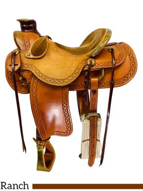 15.5Inch Used Olen Miller of Millers Saddlery Ranch Wade Saddle *Free Shipping*