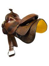 15.5Inch Used Reinsman Brian Bell Reining Saddle 4764 *Free Shipping*