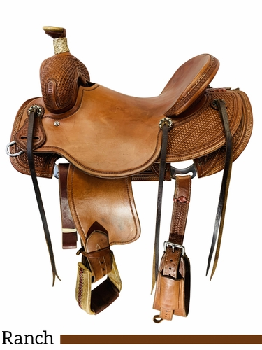 15.5Inch Used Reinsman Ranch Saddle 4601 *Free Shipping*