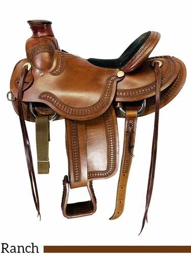 SOLD 2021/03/17 15.5Inch Used Rocking R Wade Ranch Saddle 1720 *Free Shipping*