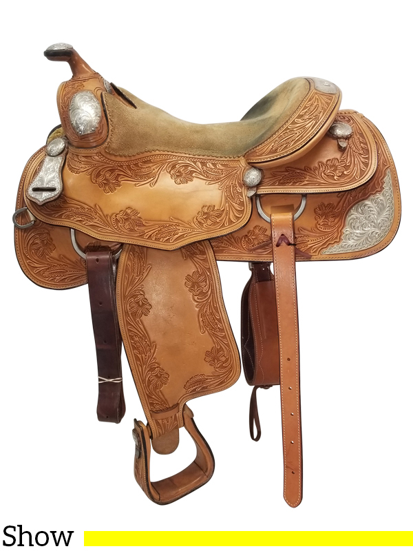 PRICE REDUCED!! 15 5Inch Used Silver Mesa Show Saddle ussm4524 *Free  Shipping*