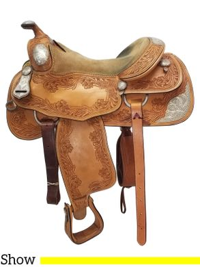 PRICE REDUCED!! 15.5Inch Used Silver Mesa Show Saddle  ussm4524 *Free Shipping*