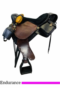 15.5Inch Used Synergist Lightweight Endurance Custom Trail Saddle *Free Shipping*