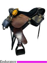 PRICE REDUCED! 15.5Inch Used Synergist Lightweight Endurance Custom Trail Saddle *Free Shipping*