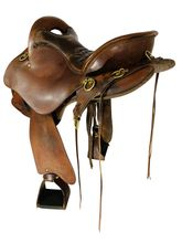15.5Inch Used Tucker Trail Saddle 159 *Free Shipping*