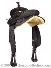 "15"" Big Horn Black Synthetic Saddle 600, CLEARANCE"