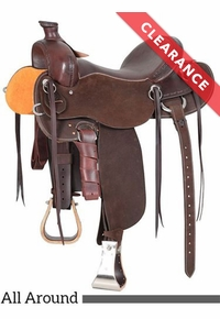 """15"""" Cashel Drover Roughout Trail Saddle CD, CLEARANCE"""