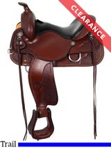 """15"""" Circle Y Ashton High Country Wide Trail Saddle 2617 CLEARANCE"""