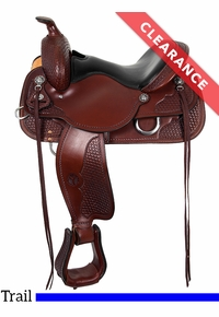 """SOLD 2019/08/09  15"""" Circle Y Ashton High Country Wide Trail Saddle 2617 CLEARANCE"""
