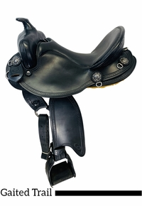 15 Inch Used Allegany Mountain Gaited Trail Saddle LR4069 *Free Shipping*