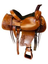 15 Inch Used American Saddlery American All Around Roping Saddle 750 *Free Shipping*