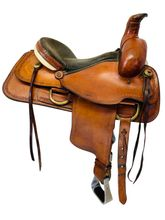 PRICE REDUCED! 15 Inch Used American Saddlery Hoss High Roper Saddle 1635 *Free Shipping*