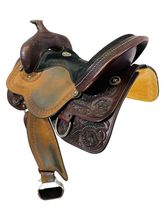 15 Inch Used Bar J Saddlery Stacy Westfall Mounted Shooting Saddle 5601 *Free Shipping*