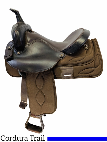 15 Inch Used Big Horn Cordura Wide Trail Saddle 274 *Free Shipping*