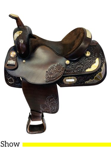 PRICE REDUCED! 15 Inch Used Big Horn Dark Show Saddle 1916 *Free Shipping*
