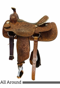 15 Inch Used Billy Cook All Around Saddle 2045 *Free Shipping*