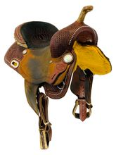 15 Inch Used Billy Cook BW Barrel Racing Saddle 1930 *Free Shipping*
