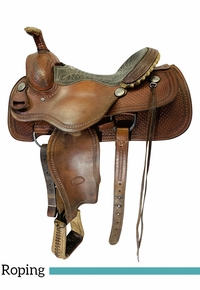 15 Inch Used Billy Cook Roping Saddle 2167 *Free Shipping*