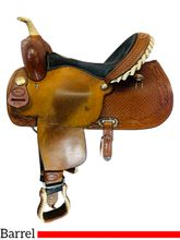 15 Inch Used Billy Cook Saddlery Feather Barrel Saddle 279 *Free Shipping*