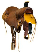 SOLD 2021/02/24  15 Inch Used Box T Ranch Saddle Custom *Free Shipping*
