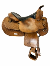 15 Inch Used Broken Horn Reining Saddle Custom *Free Shipping*