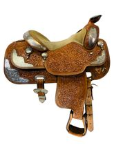 15 Inch Used Broken Horn Show Saddle Custom *Free Shipping*